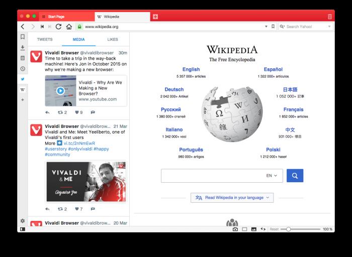 Webパネルを左に表示している画像